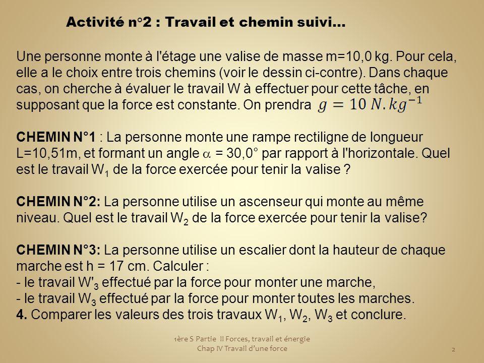 3 La valise est immobile par rapport au personnage, donc d'après le principe d'inertie elle est soumise à deux forces qui se compensent.