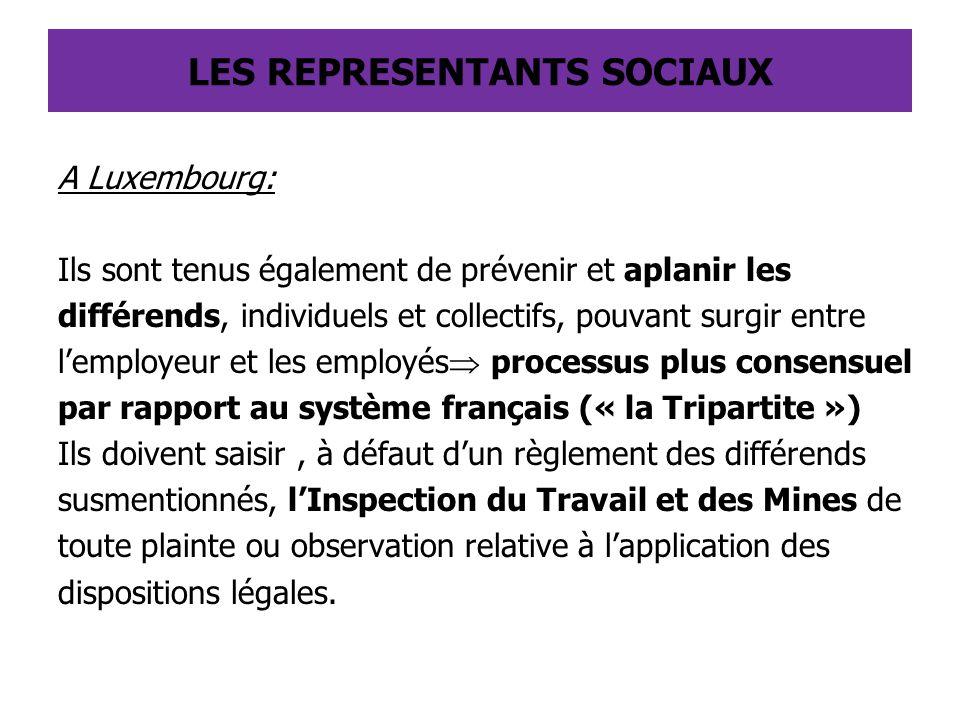 A Luxembourg: Ils sont tenus également de prévenir et aplanir les différends, individuels et collectifs, pouvant surgir entre l'employeur et les emplo