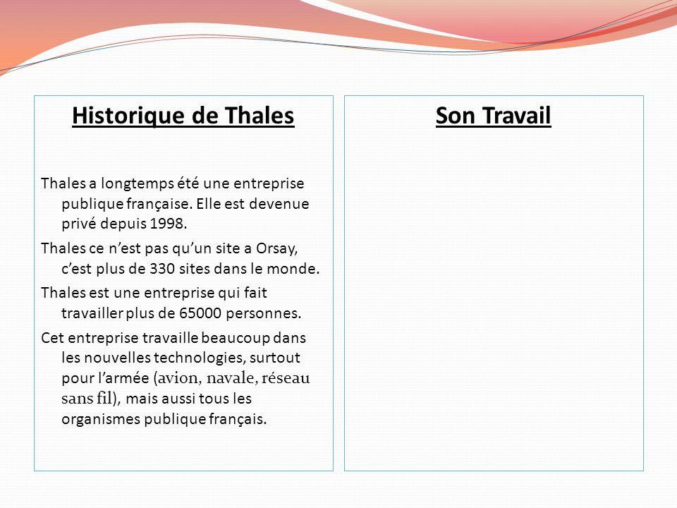 Historique de Thales Thales a longtemps été une entreprise publique française.