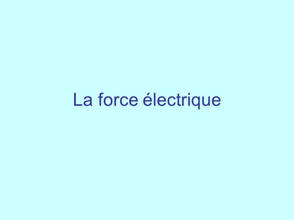 La force électrique