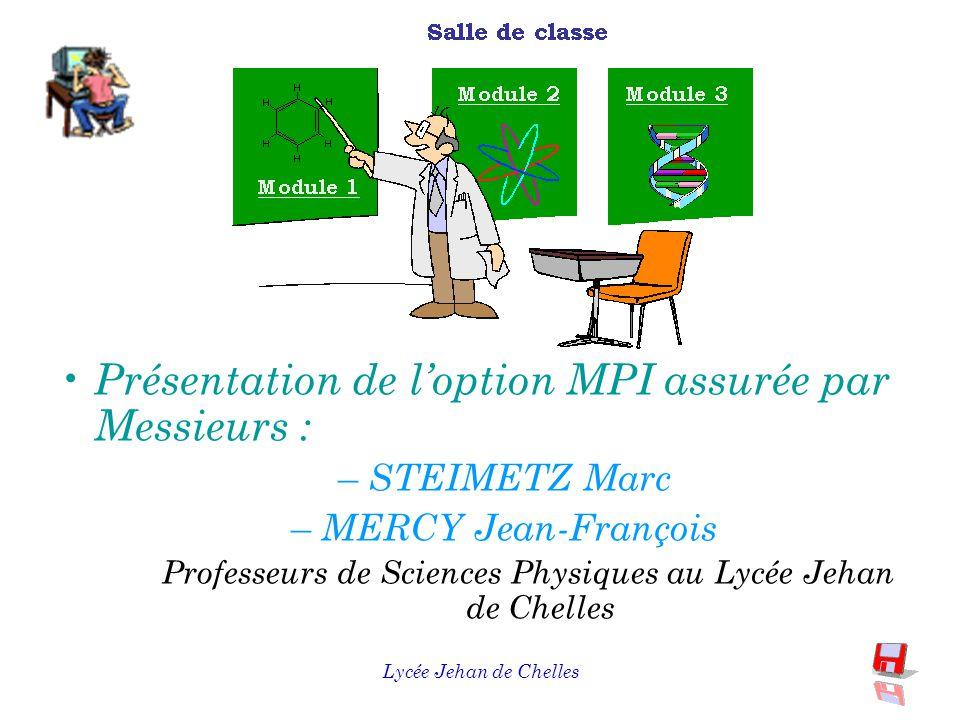 Lycée Jehan de Chelles En conclusion C ette option s'adresse à des élèves motivés désirant approfondir leur compréhension de la démarche expérimentale et d'acquérir des bases scientifiques.