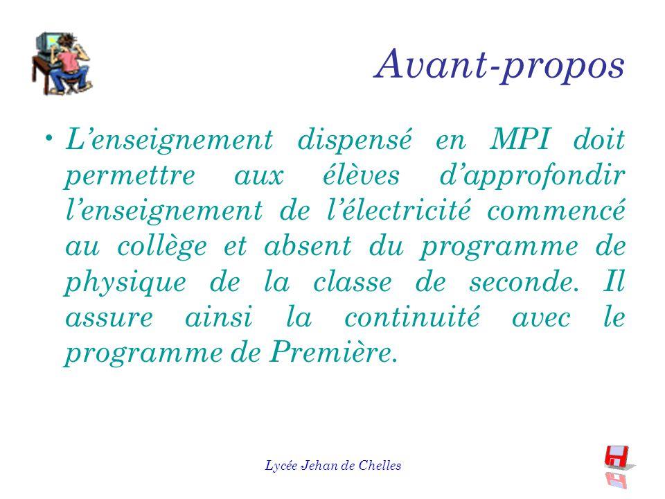 Lycée Jehan de Chelles Mesures Physiques et Informatique : MPI Présentation de l'enseignement de détermination