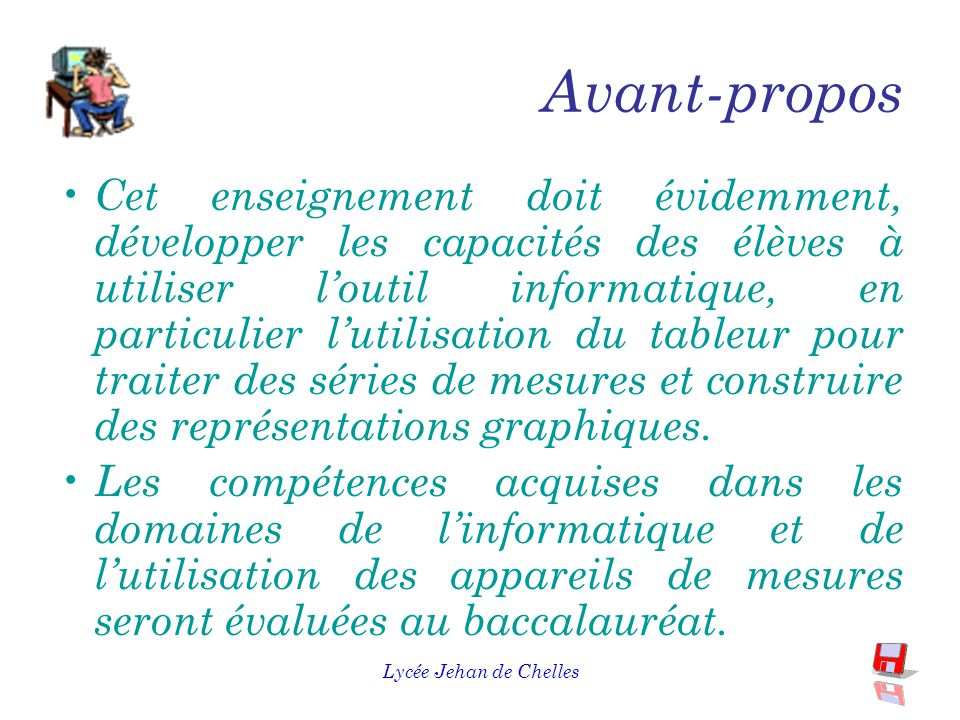 Lycée Jehan de Chelles Avant-propos L 'enseignement dispensé en MPI doit permettre aux élèves d'approfondir l'enseignement de l'électricité commencé au collège et absent du programme de physique de la classe de seconde.