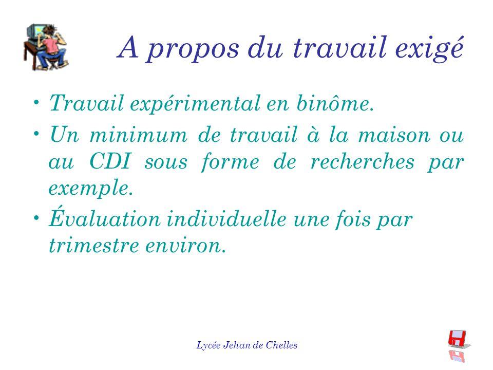 Lycée Jehan de Chelles A propos de l'horaire 3 heures hebdomadaires en Travaux Pratiques, pas de séances de cours peu de théorie.