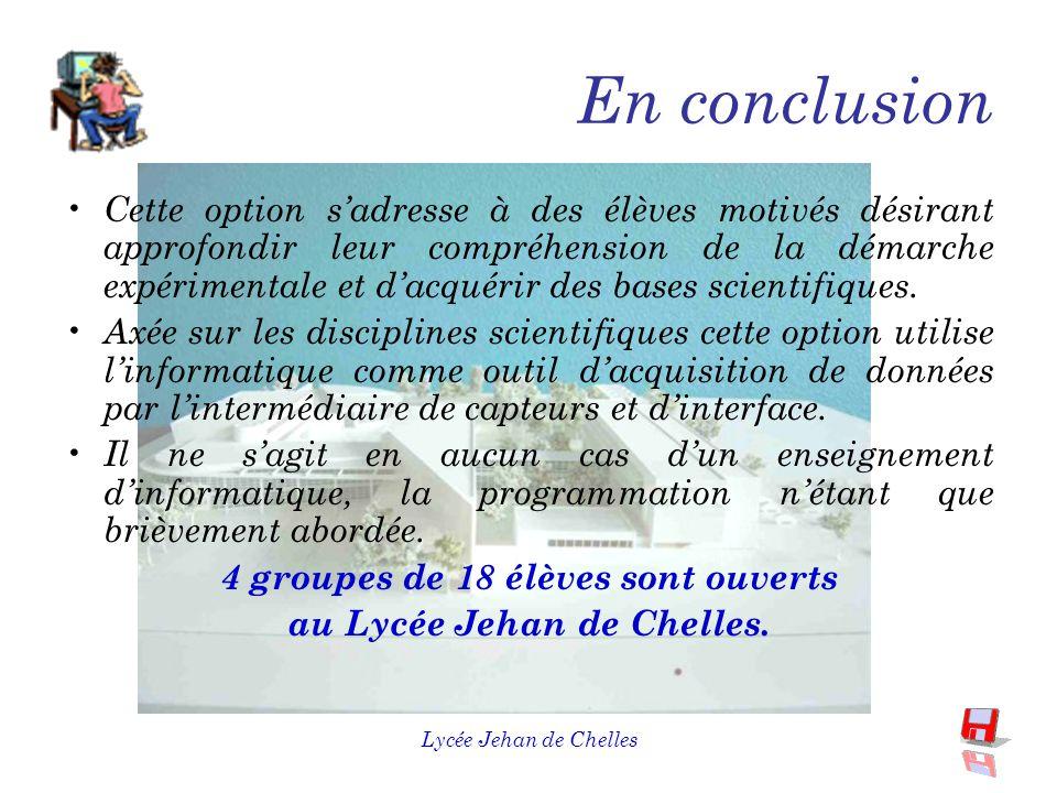 Lycée Jehan de Chelles A propos du programme F aire des Sciences, c'est faire des mesures.