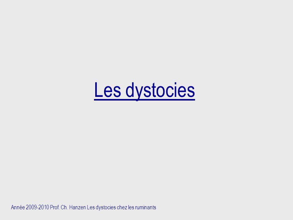 Année 2009-2010 Prof. Ch. Hanzen Les dystocies chez les ruminants Les dystocies