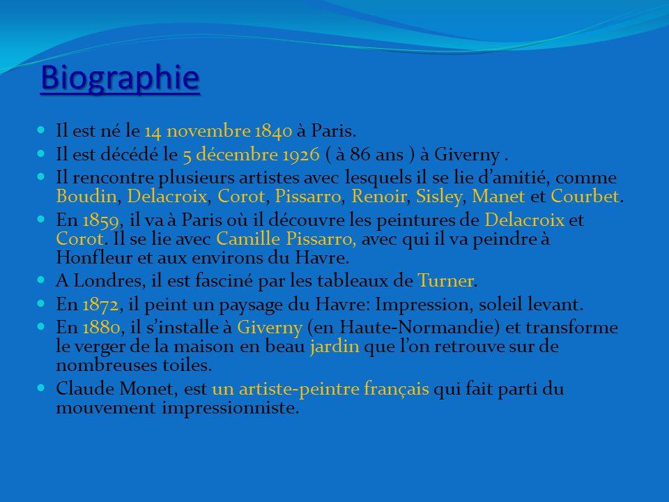 Impressionnisme - Définition L'impressionnisme est un courant de peinture française de la seconde moitié du XIXe siècle.