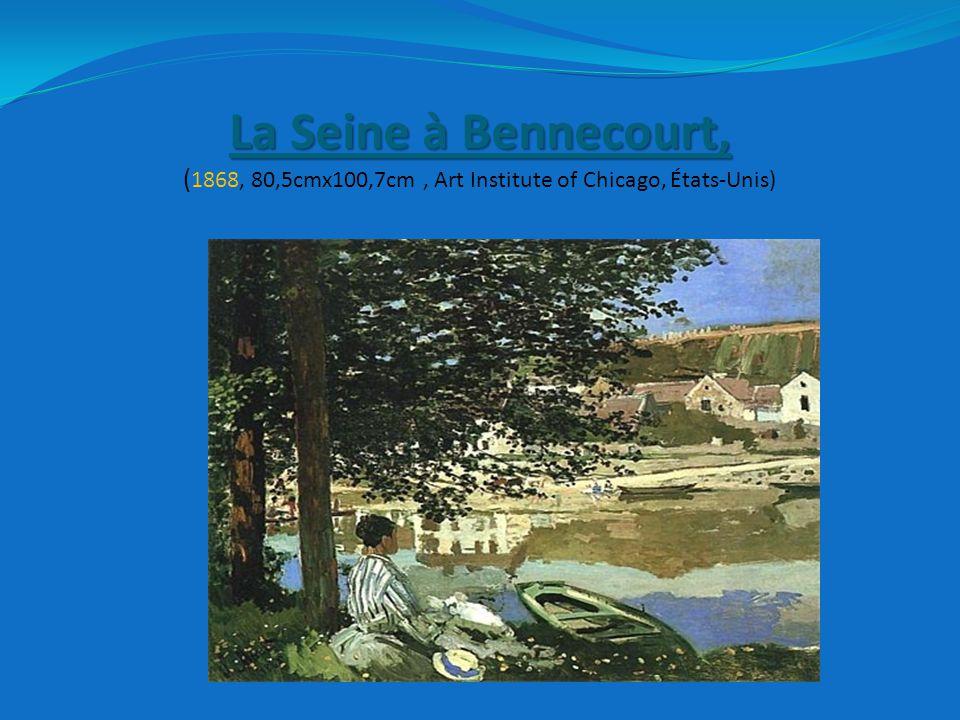 La Seine à Bennecourt, La Seine à Bennecourt, ( 1868, 80,5cmx100,7cm, Art Institute of Chicago, États-Unis)