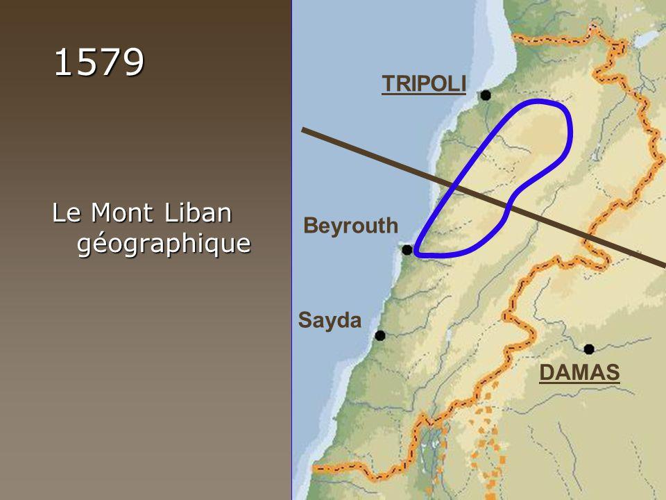 1579 Le Mont Liban géographique TRIPOLI DAMAS Sayda Beyrouth