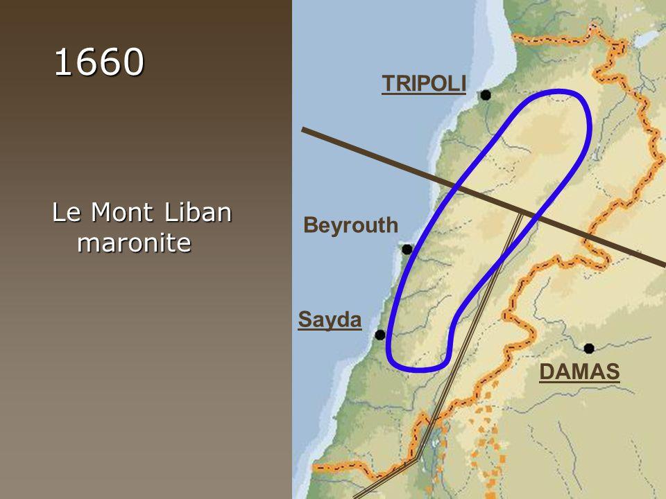 1660 Le Mont Liban maronite TRIPOLI DAMAS Sayda Beyrouth