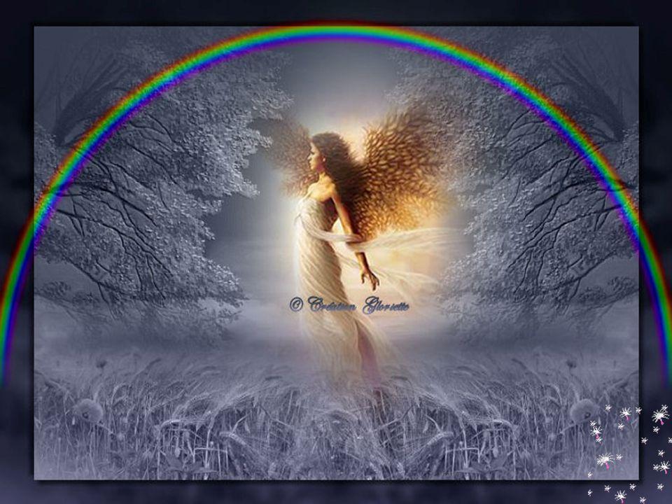 Les anges apportent un arc-en-ciel Après la pluie ils décrochent le soleil Ils déposent de la ouate sur nos oreillers Dans la nuit ils sont là pour nous protéger … Ginette
