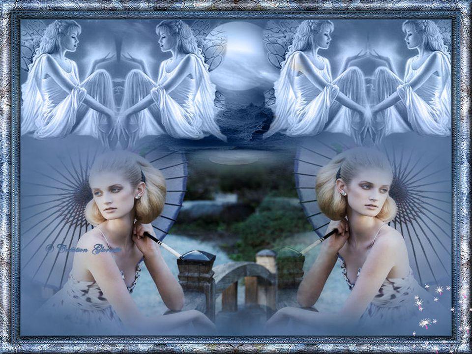 Un ange s'habille de lune et d'ombrelle Pour nous apporter des morceaux du ciel Un ange c'est toujours l'émerveillement Sur la lune il se berce en nous regardant … Ginette