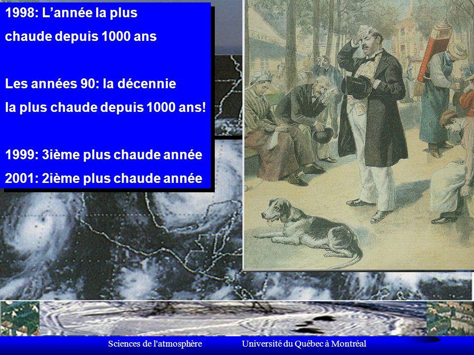 Sciences de l atmosphère Université du Québec à Montréal La variabilité du climat Une perspective millénaire