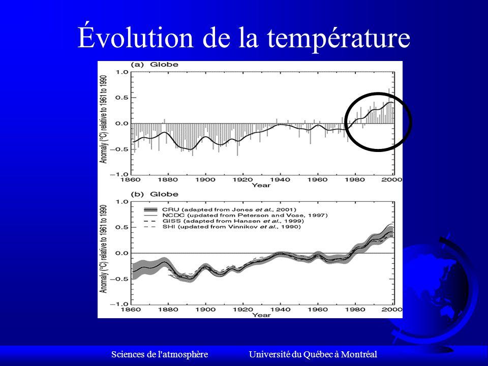 Sciences de l atmosphère Université du Québec à Montréal Assistons-nous déjà au changement climatique causé par l'augmentation des gaz à effet de serre