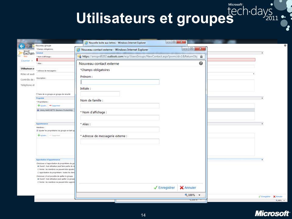 14 Utilisateurs et groupes