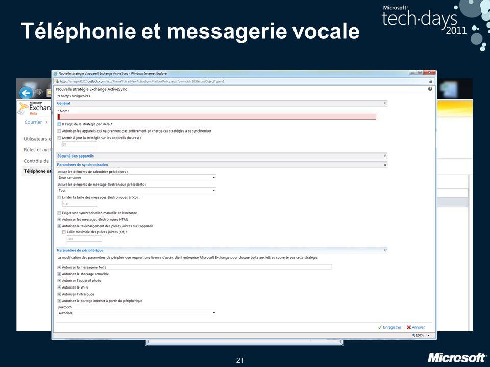 21 Téléphonie et messagerie vocale