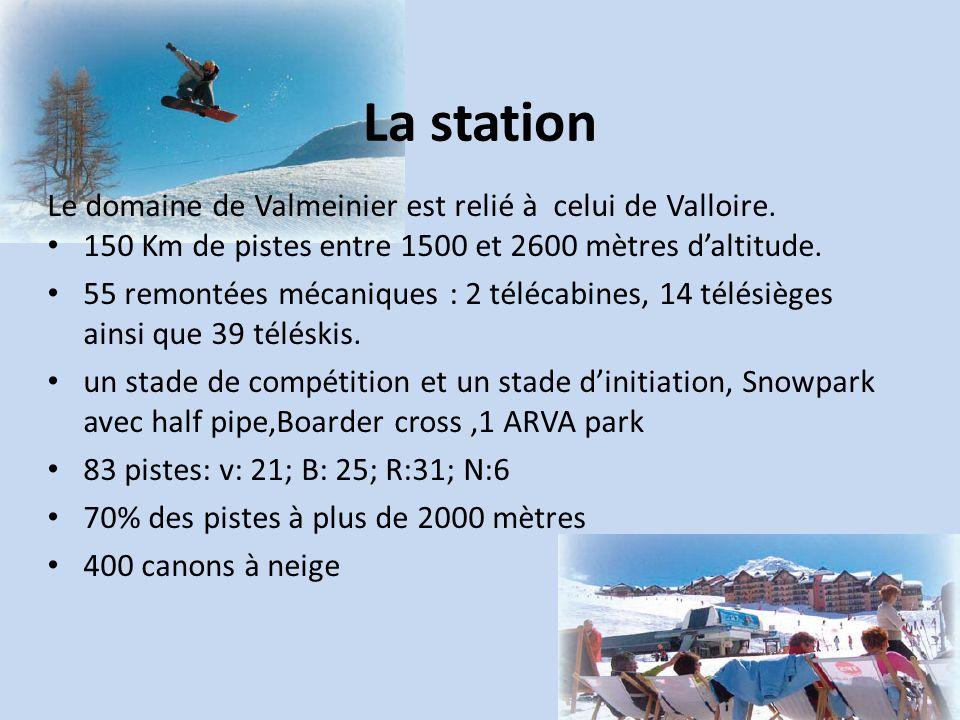 La station Le domaine de Valmeinier est relié à celui de Valloire.