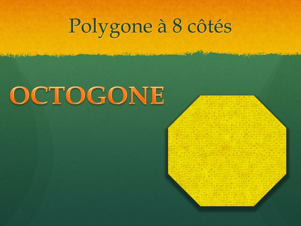 Polygone à 8 côtés