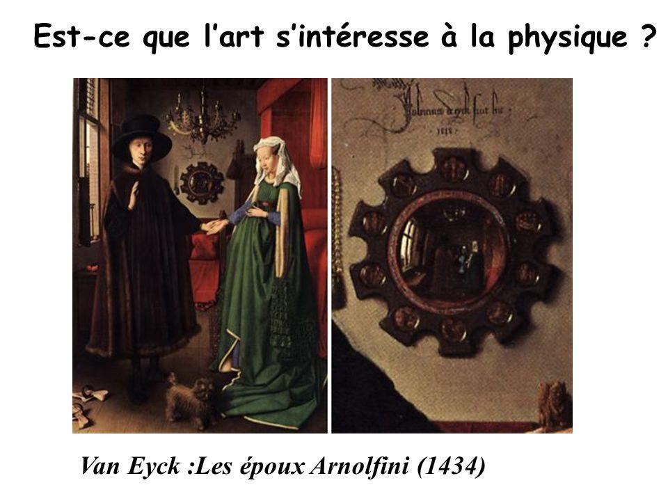 Est-ce que l'art s'intéresse à la physique ? Van Eyck :Les époux Arnolfini (1434)