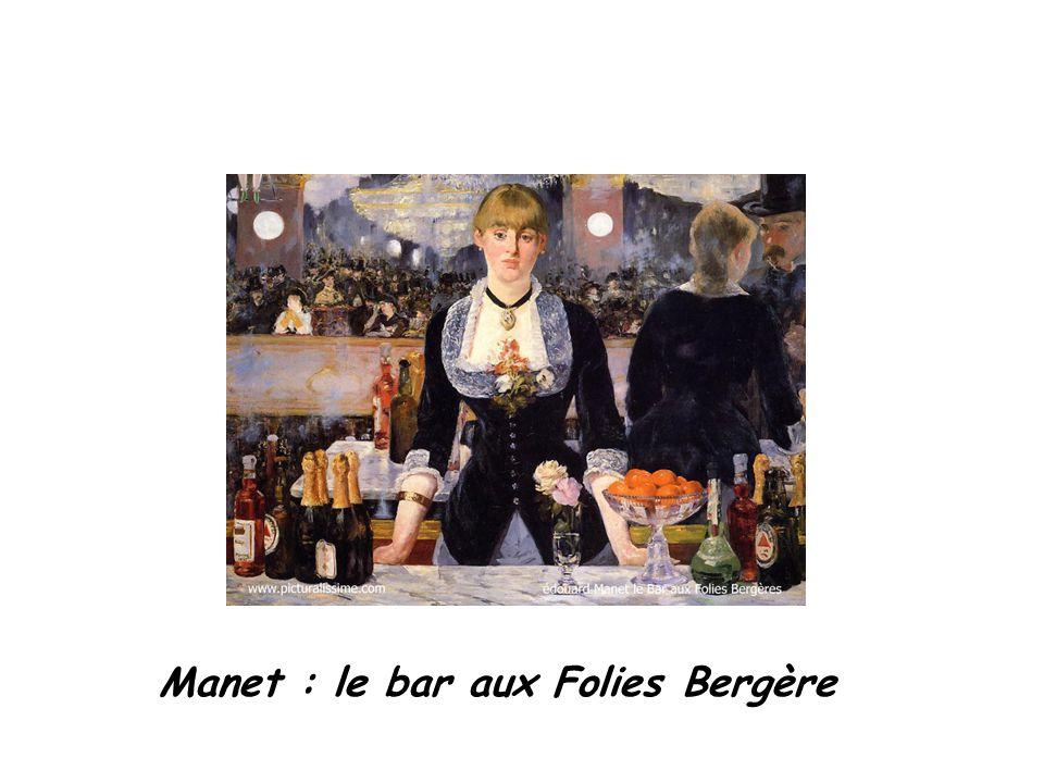 Manet : le bar aux Folies Bergère