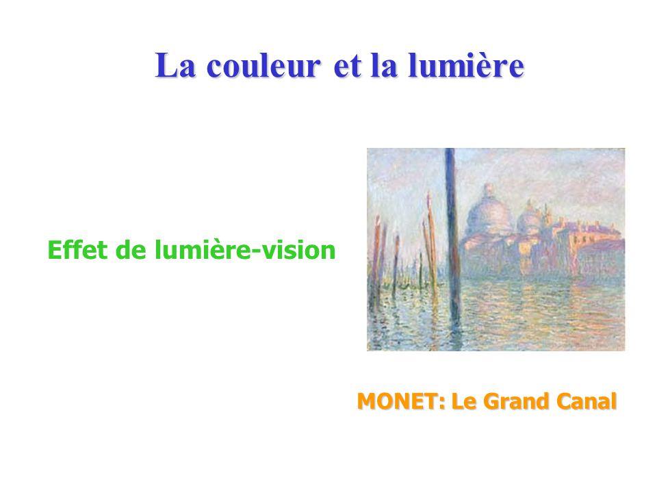 La couleur et la lumière MONET: Le Grand Canal Effet de lumière-vision