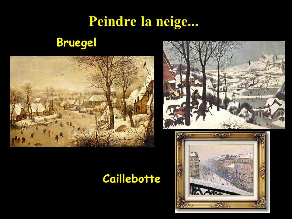 Peindre la neige... Bruegel Caillebotte