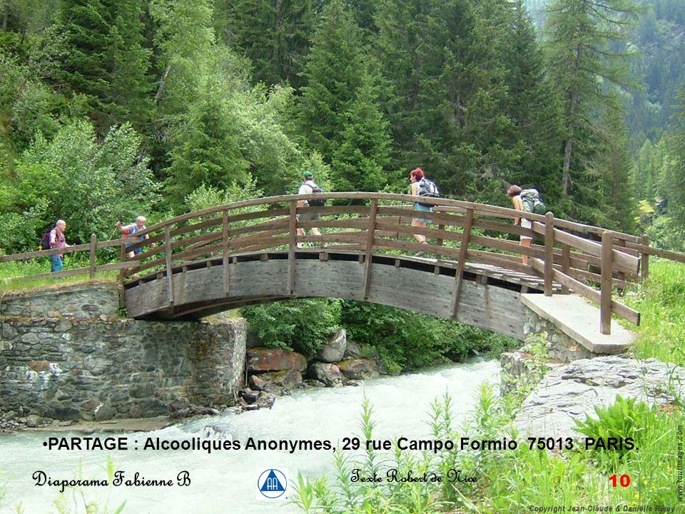 9 Diaporama Fabienne B Texte Robert de Nice (Souvenir de 10 années passées en haute montagne, Alpes du Sud.)Grâce aux AA.