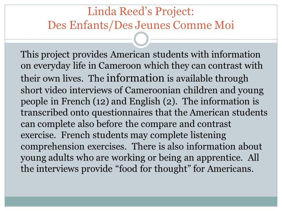 Questionnaire: DES ENFANTS / DES JEUNES COMME MOI 1.