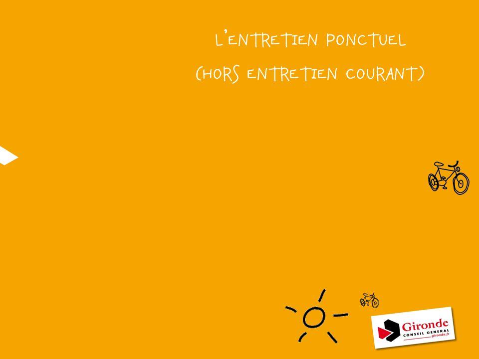 L'ENTRETIEN PONCTUEL (HORS ENTRETIEN COURANT)