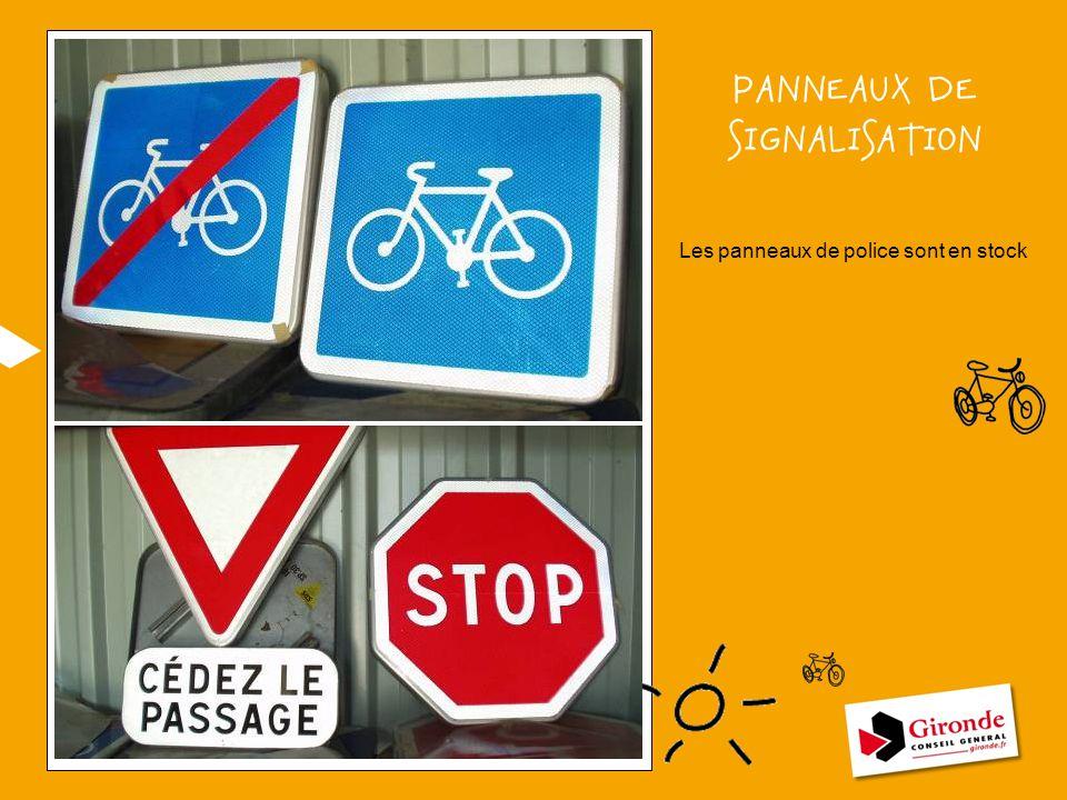 PANNEAUX DE SIGNALISATION Les panneaux de police sont en stock