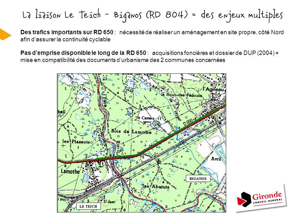 Un milieu naturel sensible RD 802 à Audenge ZNIEFF de type 1 = Zone inondable de la basse Vallée de la Leyre ZNIEFF de type 2 = Vallées de la Grande et de la Petite Leyre ZICO = Bassin d'Arcachon et Réserve naturelle du Banc d'Arguin Zone Natura 2000 = Vallées de la Grande et de la Petite Leyre + 3 Espaces Naturels Sensibles du Département - Espèce végétale protégée au niveau régional = « Hottonie des marais » - Espèces animales protégées et habitats favorables (Vison d'Europe et Loutre) et présence d'autres espèces (Cistude, Martin-Pêcheur, …) - Habitat d'intérêt communautaire prioritaire (forêt alluviale) important pour le maintien de la biodiversité Une superposition d'espaces naturels inventoriés ou protégés :