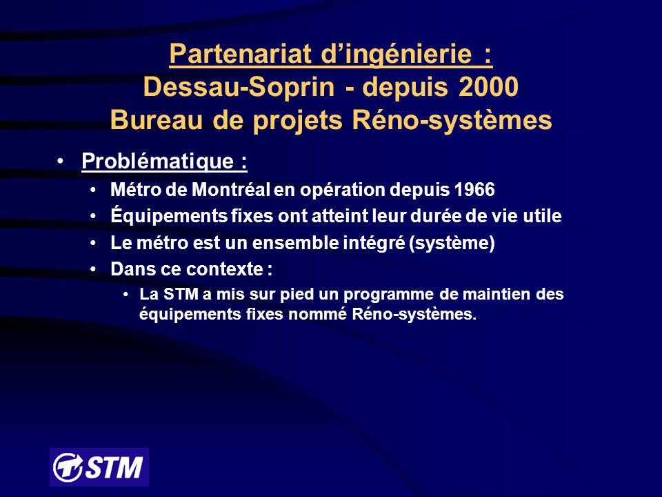 Partenariat d'ingénierie : Dessau-Soprin - depuis 2000 Bureau de projets Réno-systèmes