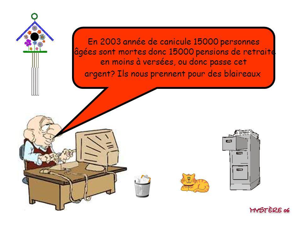 Une retraite de misère pour les vieux, par contre on arrive à débloquer des millions pour sauver les banques françaises qui ont merdé ! Arf se moquera