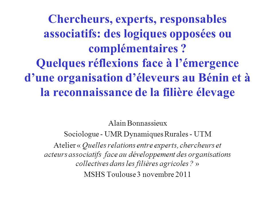 Chercheurs, experts, responsables associatifs: des logiques opposées ou complémentaires .