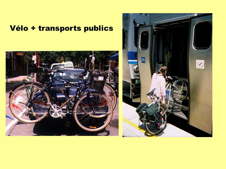 Vélo + transports publics
