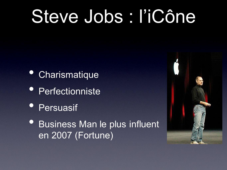 Charismatique Perfectionniste Persuasif Business Man le plus influent en 2007 (Fortune) Steve Jobs : l'iCône