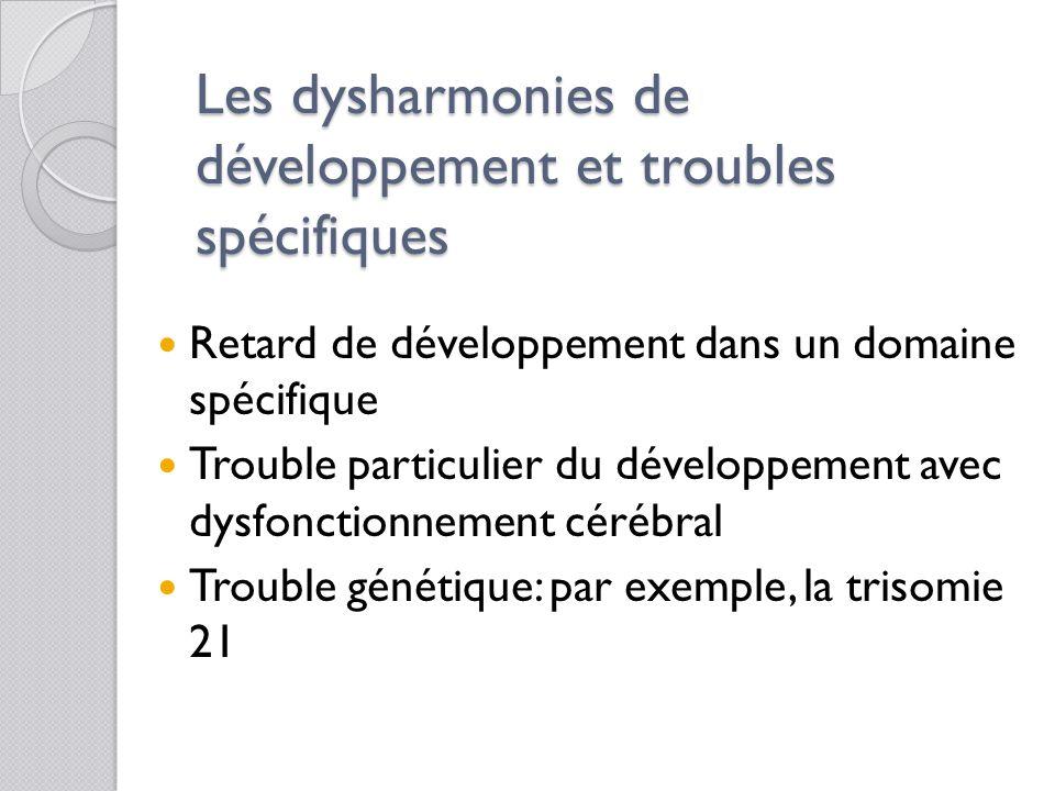 Les déficiences spécifiques Ramène à la complexité du fonctionnement cognitif  Les mémoires (temporaires et permanentes)  L'attention  Les capacité