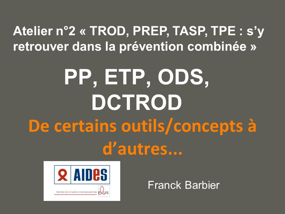 your name De certains outils/concepts à d'autres...