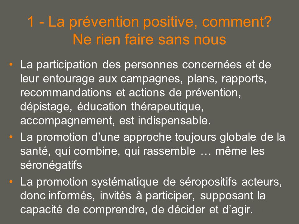 your name 1 - La prévention positive, comment.