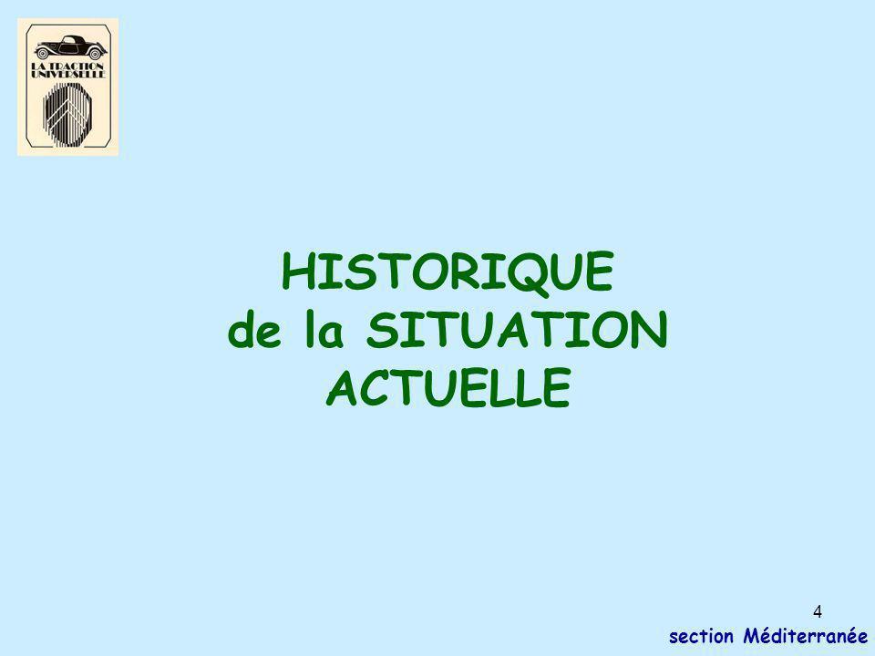4 section Méditerranée HISTORIQUE de la SITUATION ACTUELLE