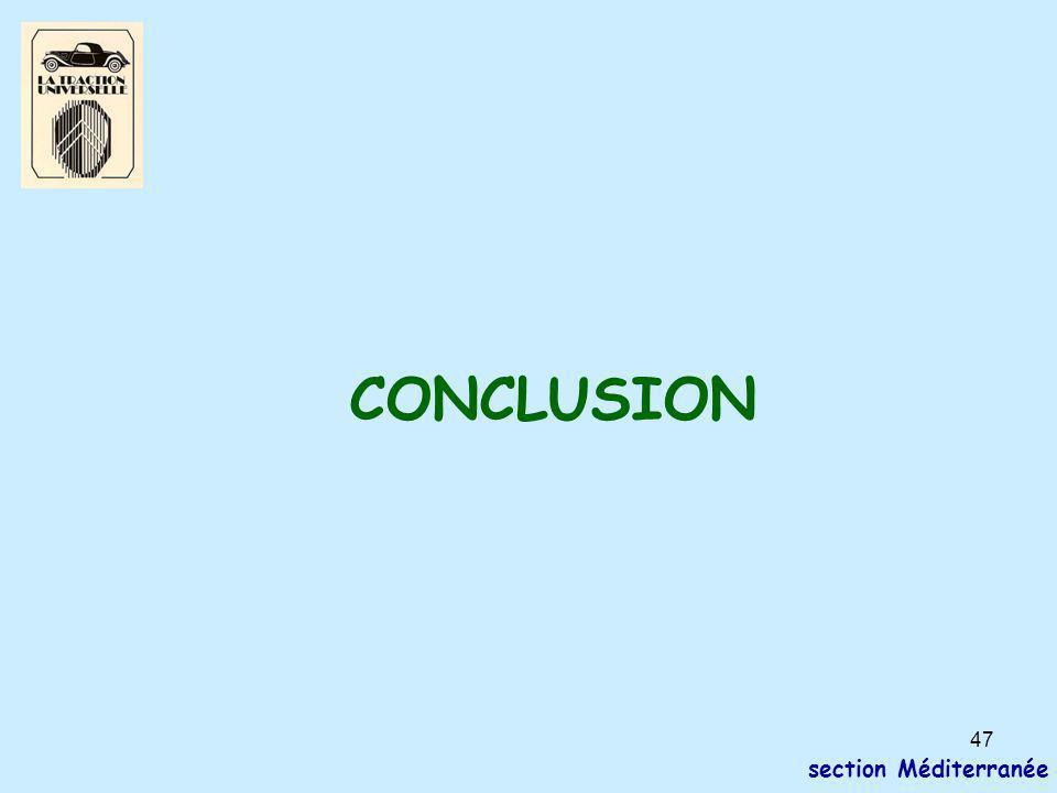 47 section Méditerranée CONCLUSION