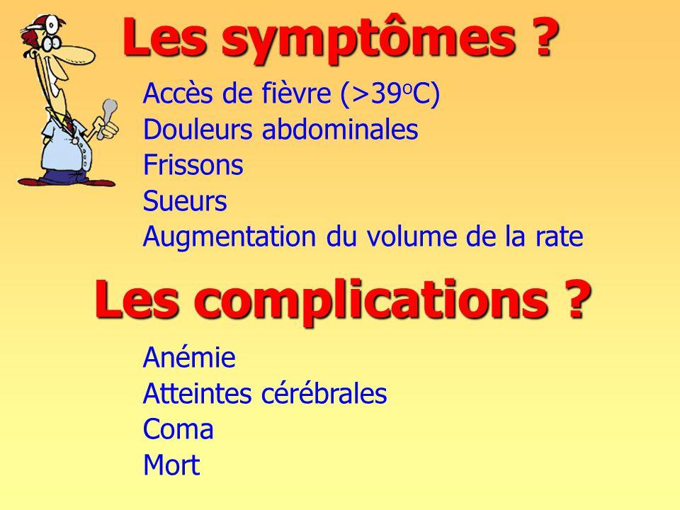 Les symptômes .