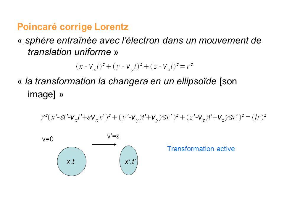 Lois de transformation des vitesses v Invariance complète de l'électromagnétisme lois de transformation de A, V, E, B, F Densité de courant j=ρv Invariance de la charge
