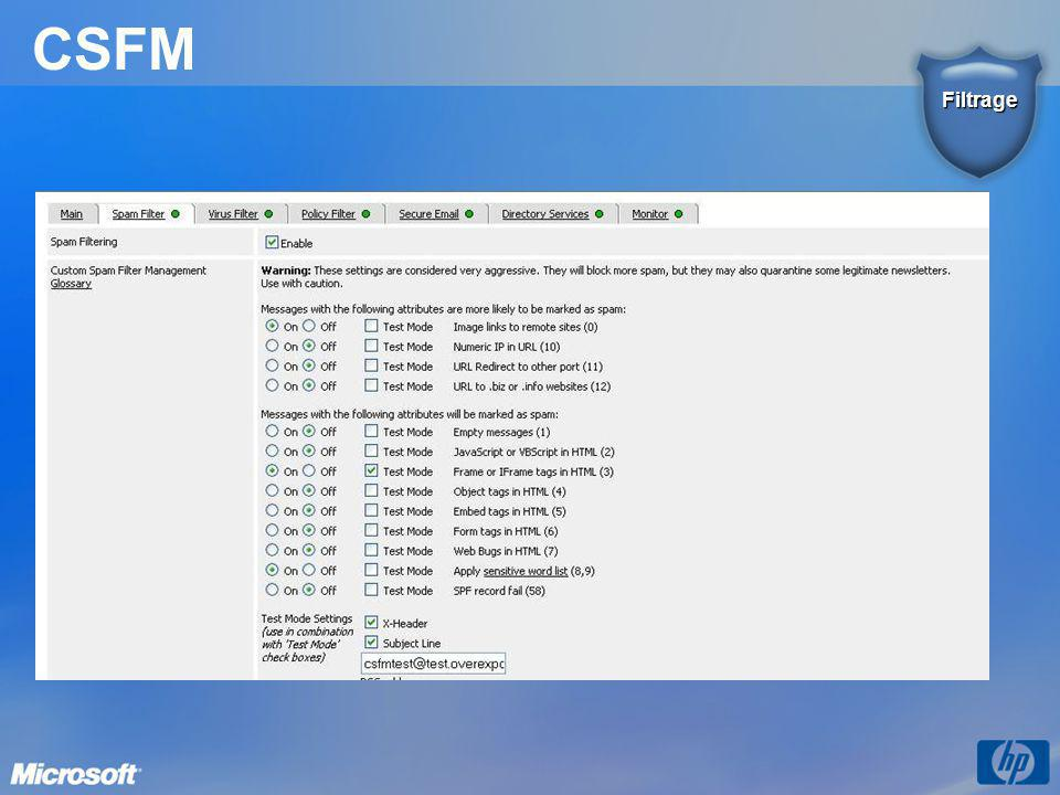 CSFM Filtrage