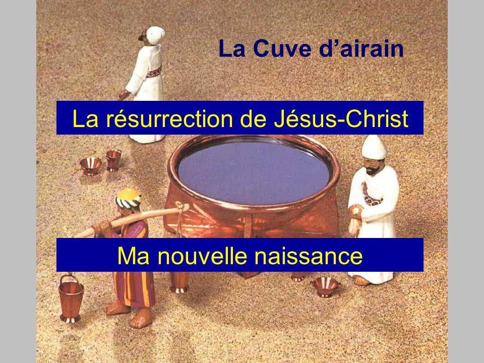 La Cuve d'airain La résurrection de Jésus-Christ Ma nouvelle naissance