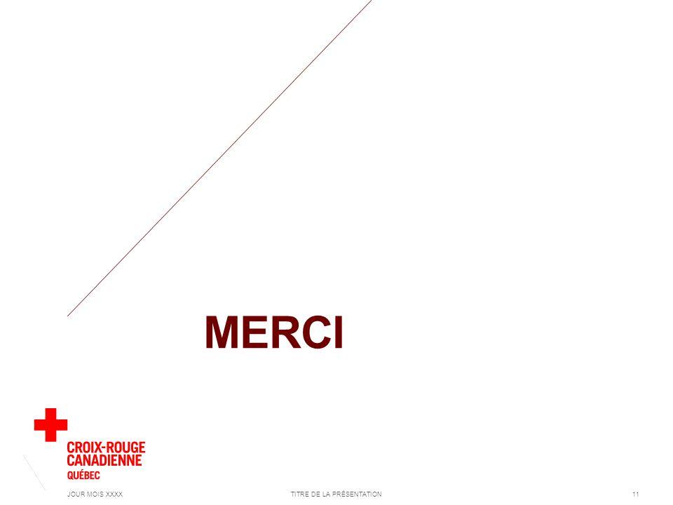 MERCI JOUR MOIS XXXXTITRE DE LA PRÉSENTATION11