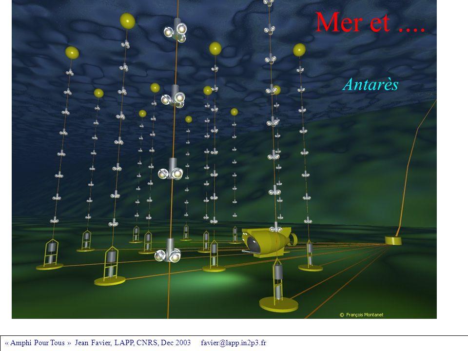« Amphi Pour Tous » Jean Favier, LAPP, CNRS, Dec 2003 favier@lapp.in2p3.fr Mer et.... Antarès
