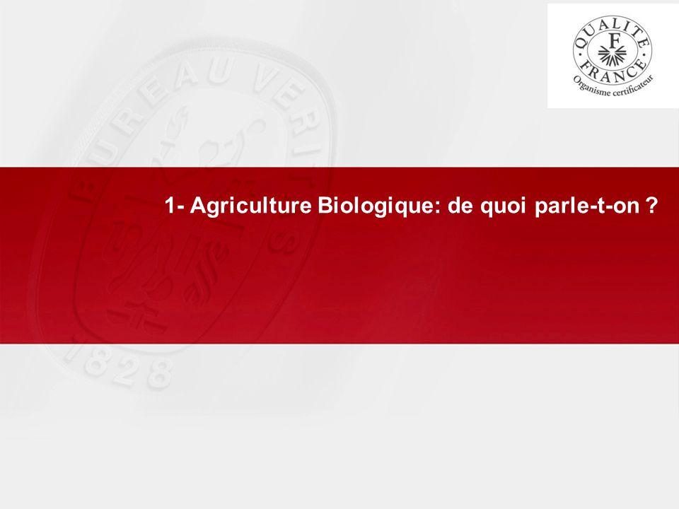 1- Agriculture Biologique: de quoi parle-t-on ?