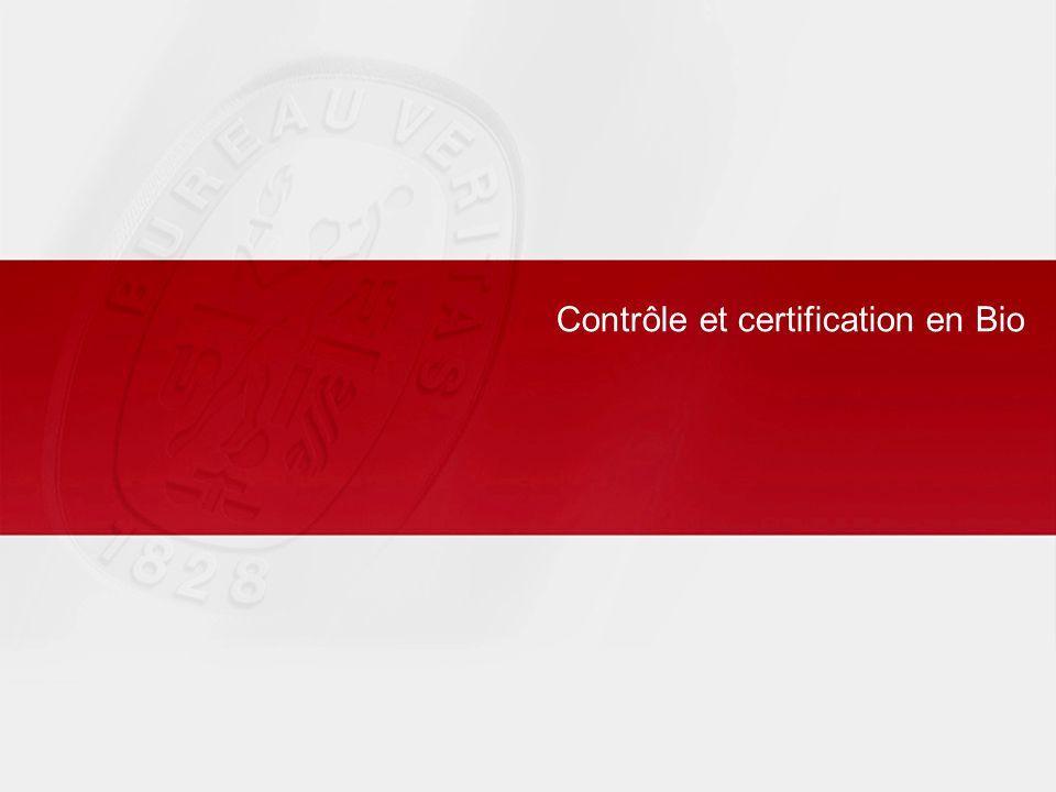 Contrôle et certification en Bio