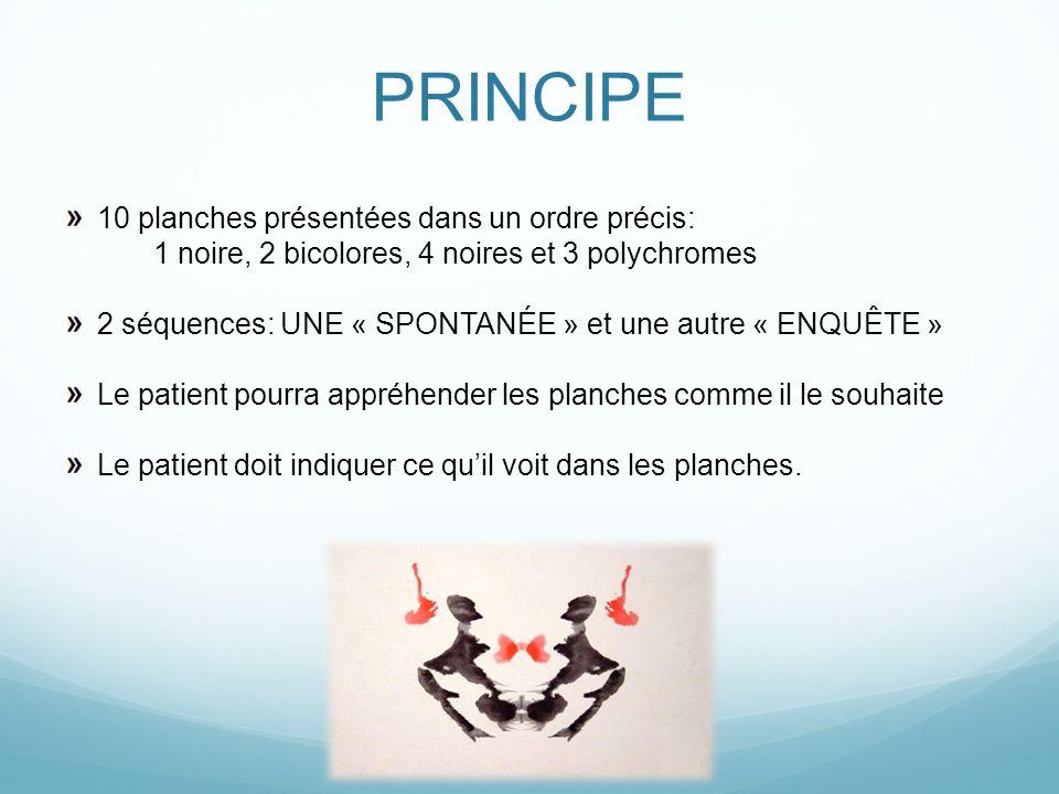 PRINCIPE 10 planches présentées dans un ordre précis: 1 noire, 2 bicolores, 4 noires et 3 polychromes 2 séquences: UNE « SPONTANÉE » et une autre « EN